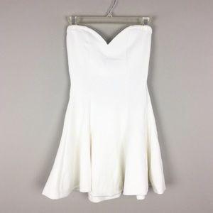 Lovers & Friends White Strapless Mini Dress